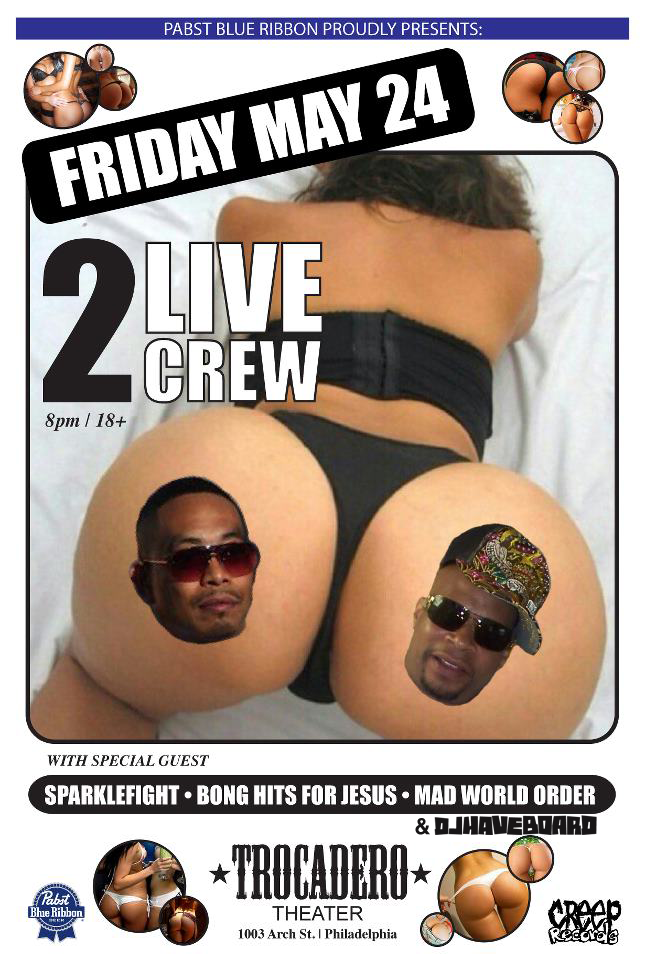 In the warm up DJ for tomorrow's 2 Live Crew Show