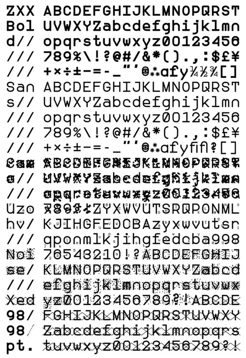 NSA proof font...can not be digitally translated