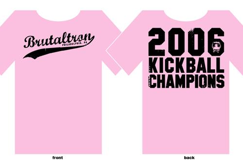 BRUTALTRON kickball shirts