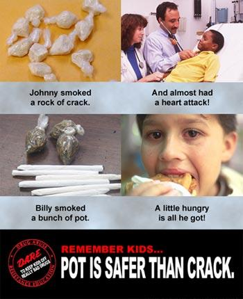 pot...safer than crack