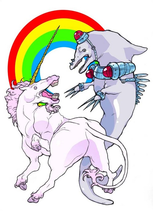 DOLPHIN VS. MUTHAFUCKIN UNICORN BITCHES!
