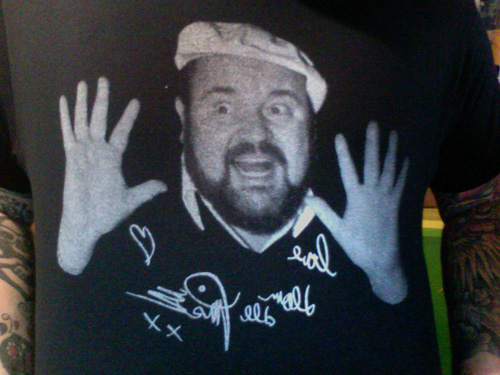 i already made a dom deluise shirt for the show tonight