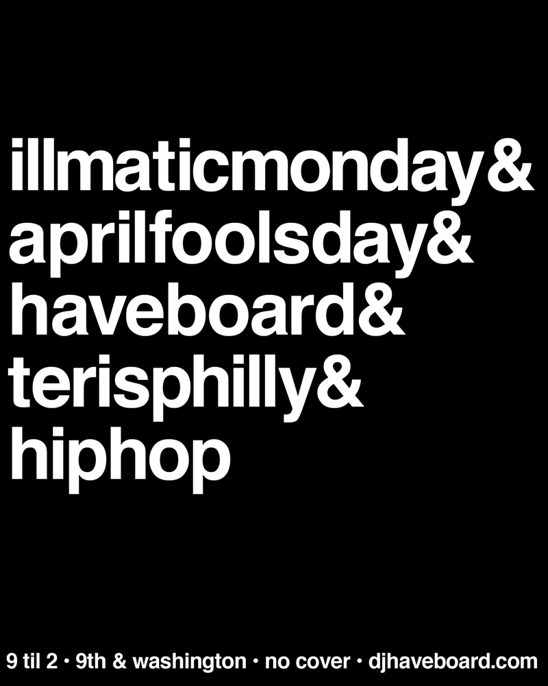 Tonight at Teri's again for Illmatic Monday