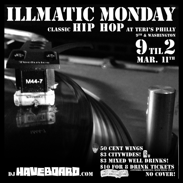 Tonight at Teris - Illmatic Monday