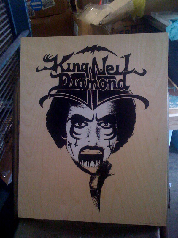 king neil diamond on wood