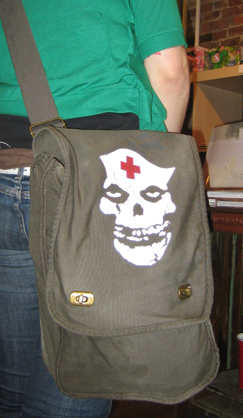 new!!! misfits nurse army bag