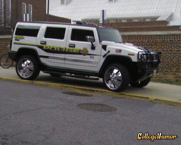 MontCo Police Hummer