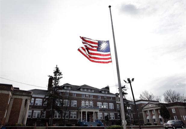NJ flying flags half mast for whitney houstons death...nj you've done it again hahaha