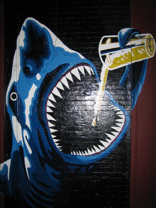 drinking shark