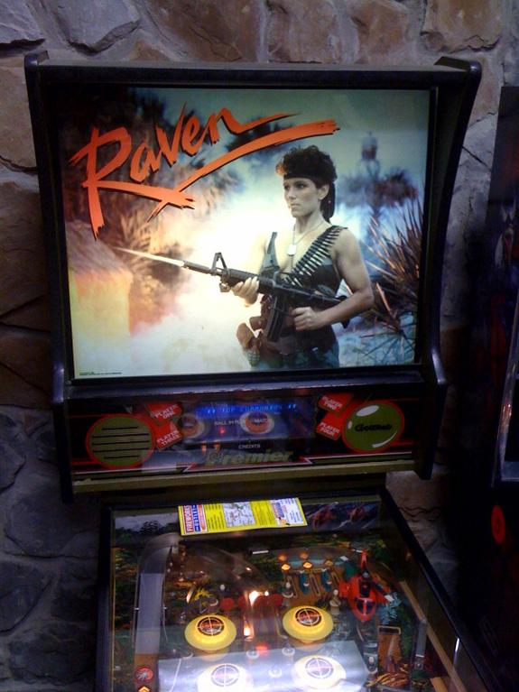 raven pinball machine