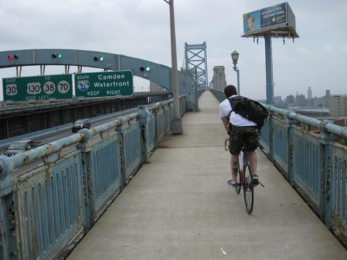 shaky riding over the Ben Franklin Bridge