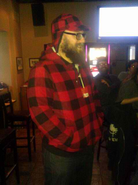 i rocked the red n black lumberjack...