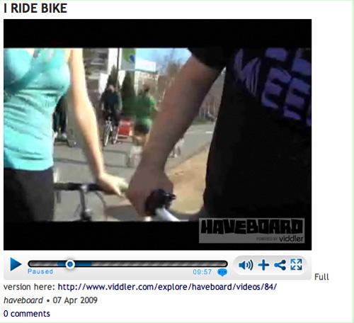 fernando sighting in haveboards bike ride